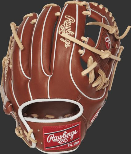 PROS314-2BR 11.5-inch Rawlings I web glove with a bruciato back and white double-welting