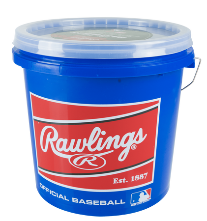 Bucket of 24 R12U Game Baseballs