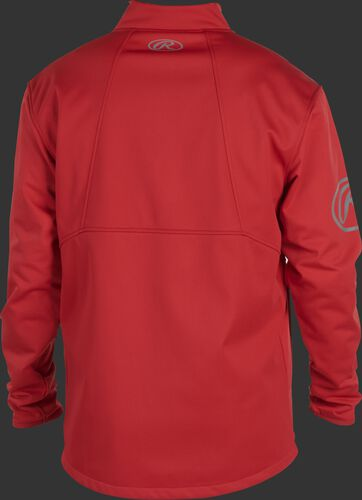 Back of a scarlet Rawlings mid weight Gold Collection jacket - SKU: GCMW2-S