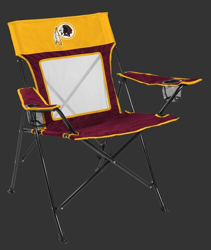 Front of Rawlings Yellow and Burgundy NFL Washington Redskins Game Changer Chair With Team Logo SKU #00651087111