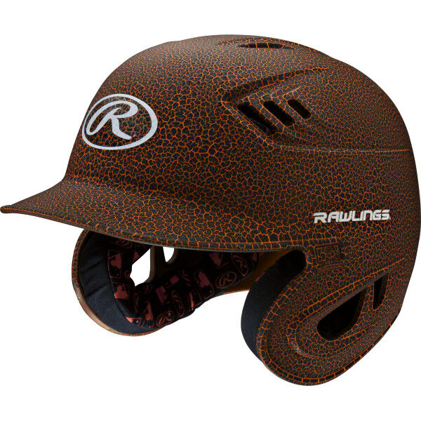 Velo Junior Batting Helmet Black/Orange