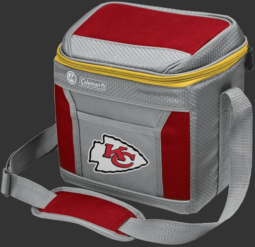 Rawlings Kansas City Chiefs 9 Can Cooler In Team Colors With Team Logo On Front SKU #03281071111