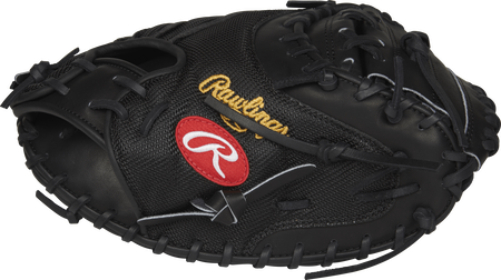 Thumb view of a PROYM4 Heart of the Hide Yadier Molina Game day catcher's mitt with a black one-piece web