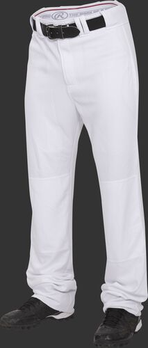 Front of Rawlings White Adult Premium Straight Pant - SKU #BPU150-BG-88