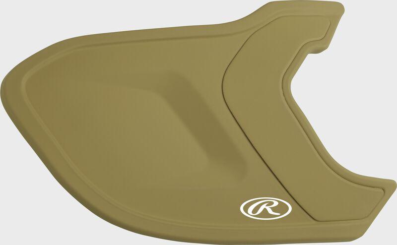 A matte Vegas gold MEXT Mach EXT batting helmet extension