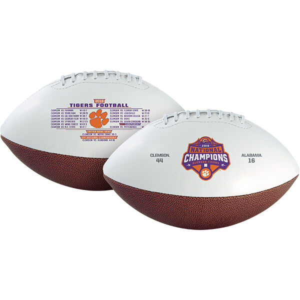 2018 College Football National Champions Clemson Tigers Full Sized Football
