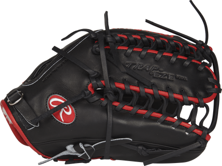 Thumb view of a PROSMT27 Pro Preferred Mike Trout 12.75-inch game day outfield glove with a black Trap-Eze web