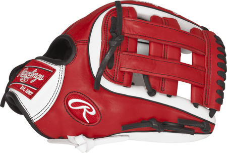 GXLE315-6WS 11.75-inch Gamer XLE infield glove with a scarlet/white thumb and scarlet H web