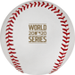 The 2020 World Series logo stamped in gold on a MLB dueling baseball - SKU: EA-WSBB20DL-R image number null