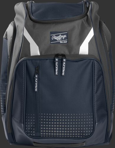A navy Legion backpack with a navy Rawlings patch on the front - SKU: LEGION-N