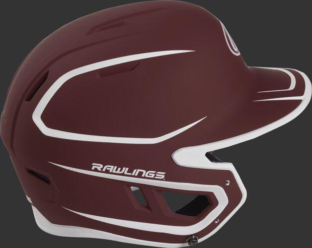 Mach Senior Two-Tone Matte Helmet Cardinal