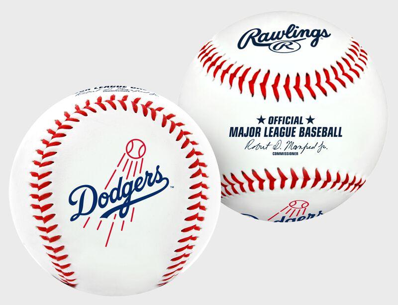 2 views of a MLB Los Angeles Dodgers baseball