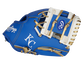 A blue/white Kansas City Royals 10-Inch team logo glove with a white I-web and KC logo on the thumb - SKU: 22000026111 image number null