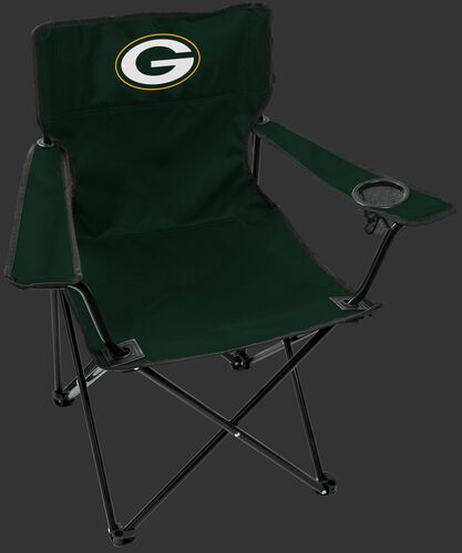 Front of Rawlings Green NFL Green Bay Packers Gameday Elite Chair With Team Logo SKU #00551068111