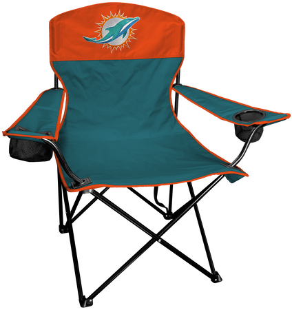NFL Miami Dolphins Lineman chair with team colors and logo on the back
