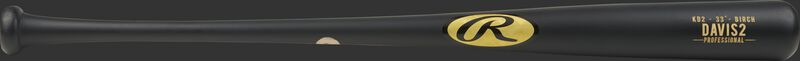 KD2PL Khris Davis Birch wood bat with a black barrel and black handle