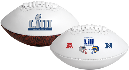 Super Bowl 53 New England Patriots VS Los Angeles Rams Youth Size Dueling Football