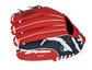 Back of a red/navy St. Louis Cardinals 10-inch youth glove with the MLB logo on the pinky - SKU: 22000007111 image number null