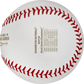 The World Series game scores stamped on the WSBB19CHMP Nationals champions baseball image number null