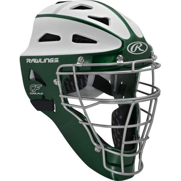 Velo Youth Softball Catchers Helmet Dark Green