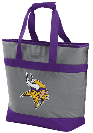 Rawlings Minnesota Vikings 30 Can Tote Cooler In Team Colors With Team Logo On Front SKU #07571075111