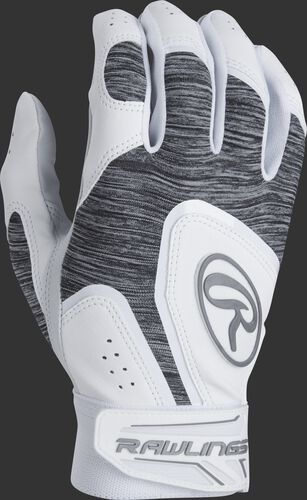 A white 5150WBG-W youth 5150 batting glove with a heather grey back