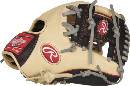 Thumb view of a PRO204-2CBG Heart of the Hide 11.5-inch infield glove with a black I web