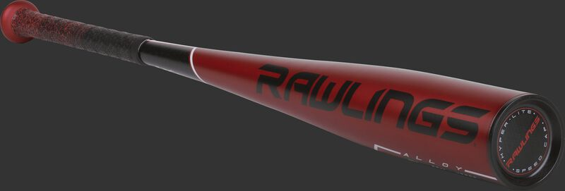 US955 2019 5150 -5 baseball bat with a red barrel and black end cap