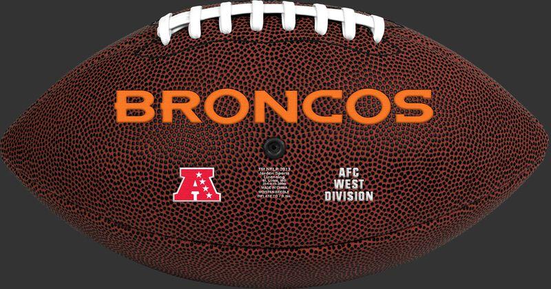 NFL Denver Broncos Football With Team Name in Orange SKU #07081066811