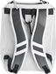 Back of a white Rawlings Franchise backpack with gray shoulder straps - SKU: FRANBP-W image number null