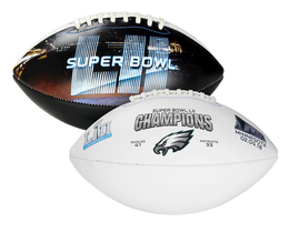 Super Bowl 52 Champions Philadelphia Eagles Full Size Football