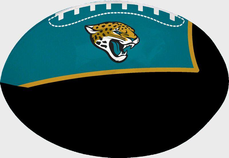 Black and Teal NFL Jacksonville Jaguars Football With Team Logo SKU #07831091112