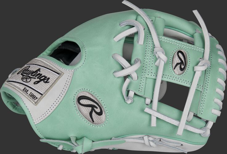 Thumb of an ocean mint 2021 exclusive Heart of the Hide Pro Preferred hybrid glove with a mint I-web - SKU: RSGPRO204-2WM