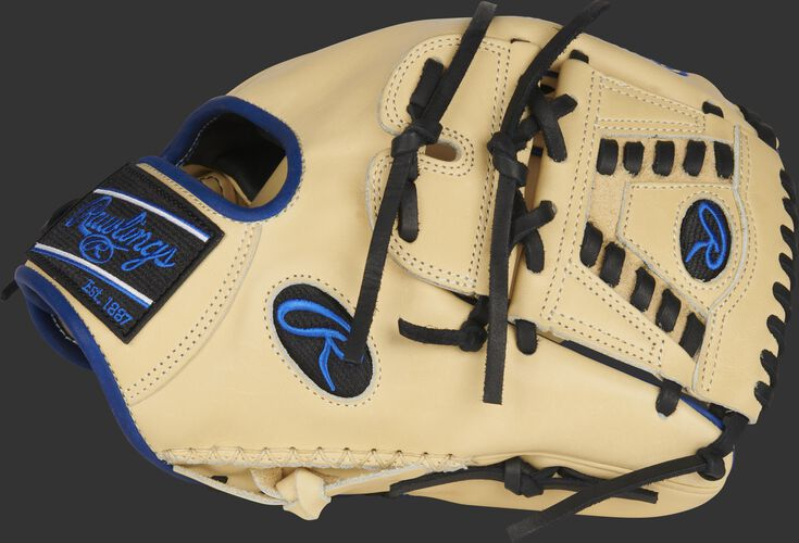 Thumb of a camel Heart of the Hide ColorSync 5.0 infield/pitcher's glove with a 2-Piece solid web - SKU: PRO205-30CR