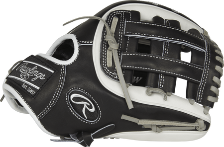 Thumb view of a Rawlings PRO314-6BW Heart of the Hide infield glove with a black H web