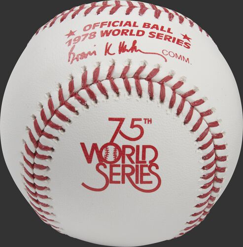 1978 World Series logo printed on a Major league baseball - SKU: RSGEA-WSBB78-R
