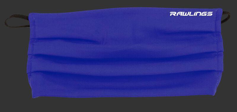 A blue Rawlings Performance Wear ear loop sports mask - SKU: RMSKE-BLU