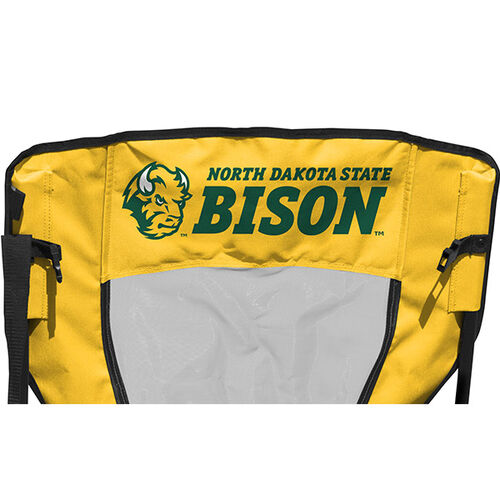 Back of Rawlings Green and Yellow NCAA North Dakota State Bison High Back Chair With Team Name SKU #09403158518