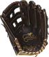 RGG3039-6MO 12.75-inch Rawlings Gold Glove baseball glove with a mocha palm and chocolate brown laces image number null