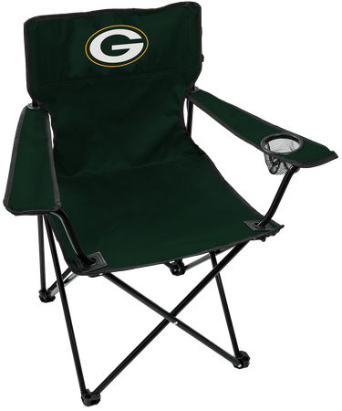 NFL Green Bay Packers Gameday Elite Chair with team colors and logo on the back