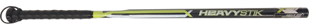 A black HVYSTK Heavy-stik training bat