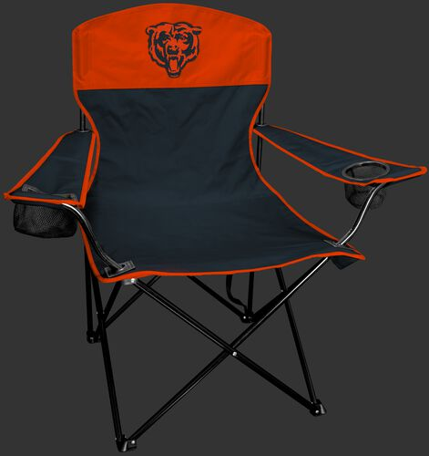 Front of Rawlings Navy and Orange NFL Chicago Bears Lineman Chair With Team Logo SKU #31021062111