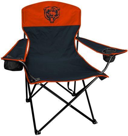 NFL Chicago Bears Lineman chair with team colors and logo on the back