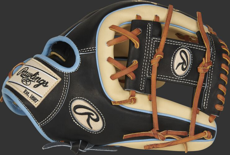 Thumb of a camel/black 2021 11.75-Inch Heart of the Hide infield glove with a camel I-web - SKU: PRO315-2CBC