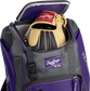 A Rawlings baseball glove in the top compartment of a Franchise baseball backpack - SKU: FRANBP-PU image number null