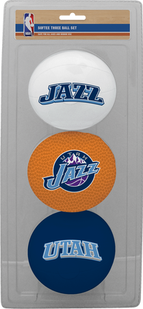 NBA Utah Jazz Three-Point Softee Basketball Set