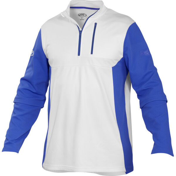 Adult Long Sleeve Shirt White/Royal