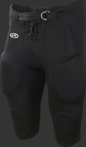 Black FPPI Adult Lightweight Polyester football pants