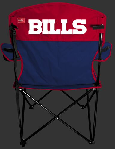 Back of Rawlings Red and Blue NFL Buffalo Bills Lineman Chair With Team Name SKU #31021061111