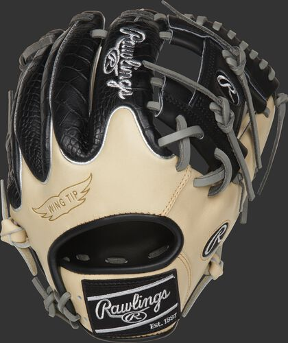 PRO204W-2CCBP 11.5-inch Heart of the Hide ColorSync infield glove with a camel Wing-Tip back and black finger stalls